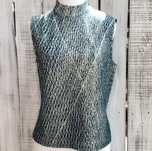 St. John S Mock Turtle Neck Knit Blouse